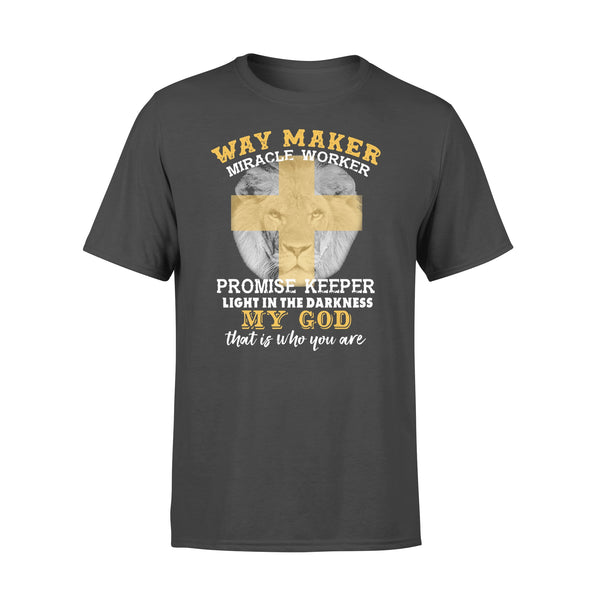 Lion Way Maker Miracle Worker Promise Keeper My God Shirt L By AllezyShirt
