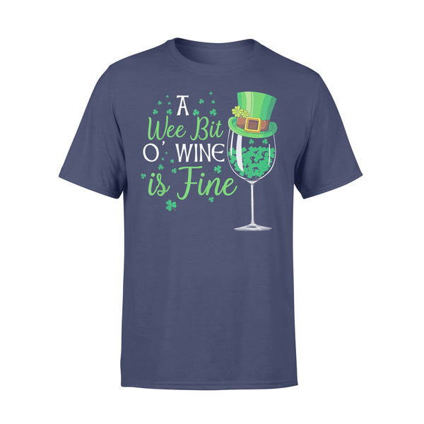 A Wee Bit O' Wine Funny St Shirt XL By AllezyShirt