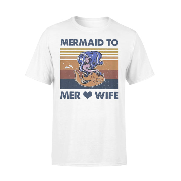 Mermaid To Mer Love Wife Vintage T-shirt L By AllezyShirt