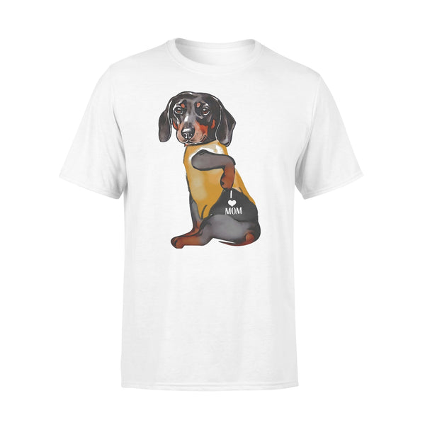 Dachshund Tattoos I Love Mom Heart Shirt L By AllezyShirt