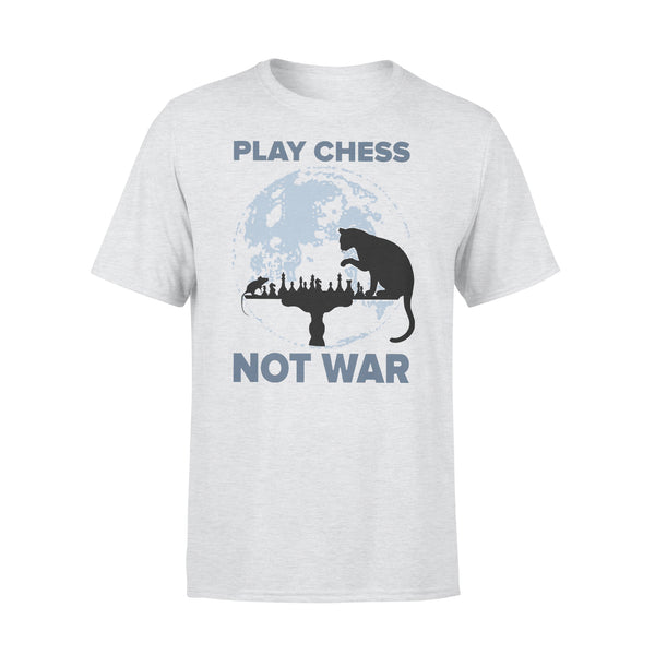 Play Chess Not War Cat Lovers T-shirt XL By AllezyShirt