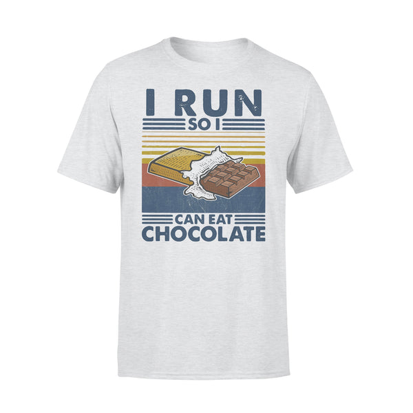 i Run So I Can Eat Chocolate Running Vintage T-shirt XL By AllezyShirt