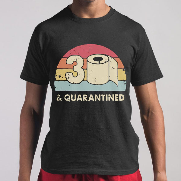 30Th And Quarantined Toilet Paper 2020 Vintage T-shirt M By AllezyShirt