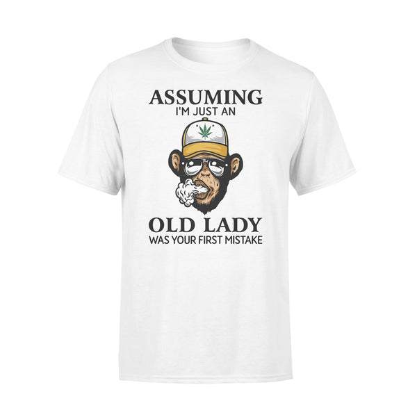 Monkey Assuming I'm Just An Old Lady Was Your First Mistake Shirt L By AllezyShirt
