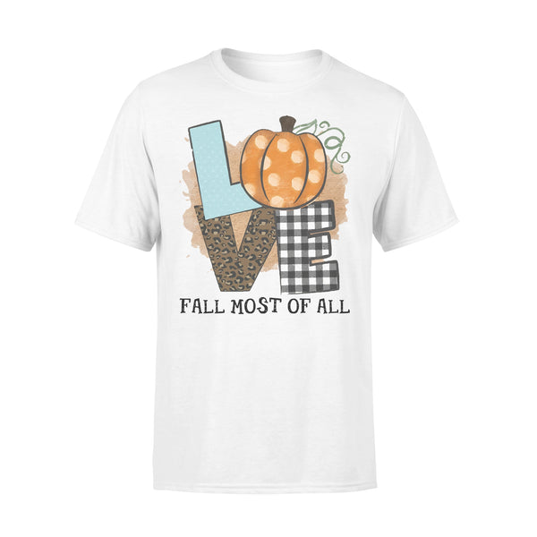 Love Fall Most Of All Pumpkin T-shirt L By AllezyShirt