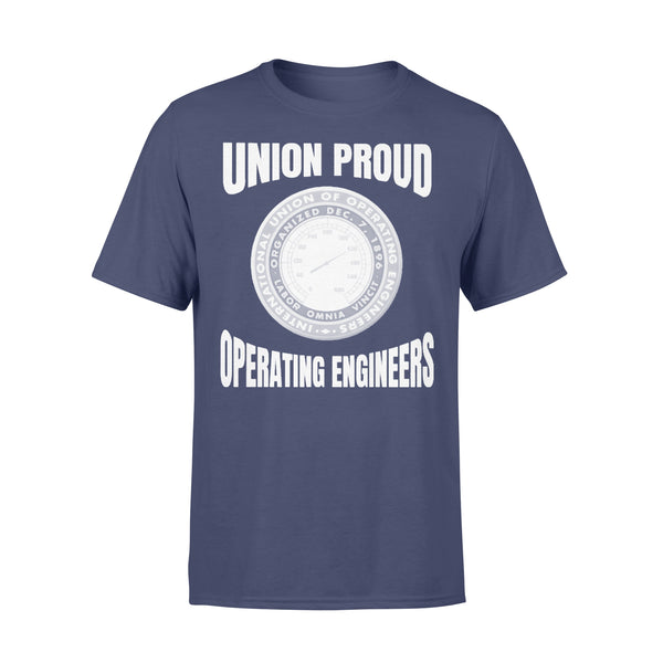 Union Proud Labor Omnia Vincit Organized Dec.7.1896 Operating Engineers T-shirt XL By AllezyShirt