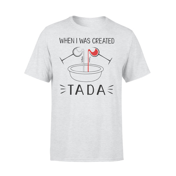 Native When I Was Created Tada T-shirt XL By AllezyShirt