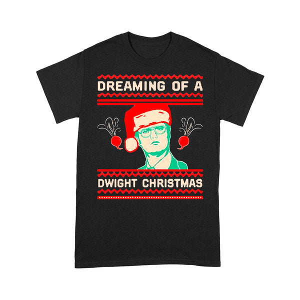 Dreaming Of A Dwight Ugly Christmas T-shirt S By AllezyShirt