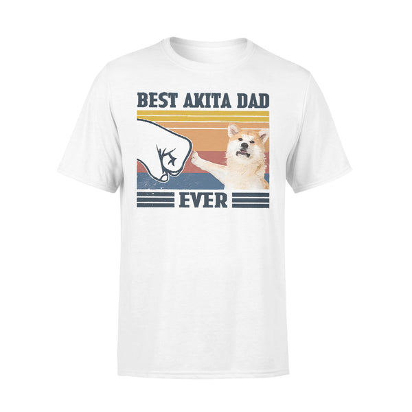 Father's Day Best Akita Dad Ever Vintage Fathers Day T-shirt L By AllezyShirt