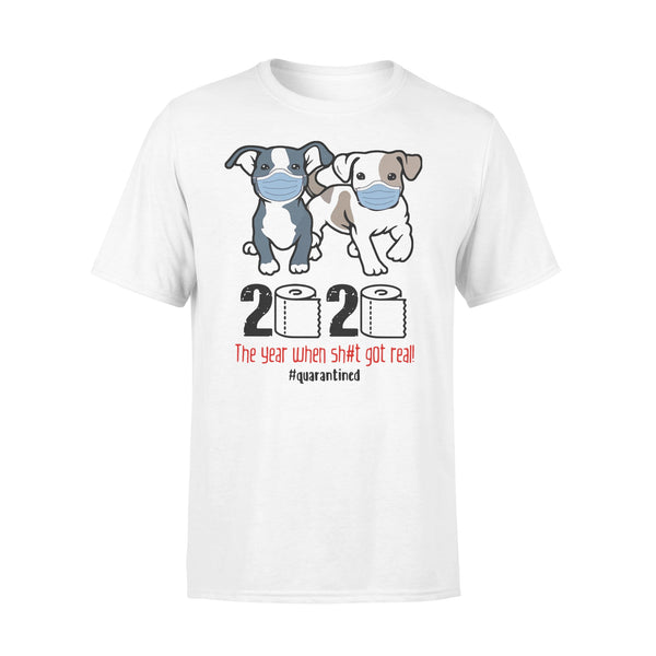 Pit Bull 2020 The Year When Shit For Real Quarantined T-Shirt L By AllezyShirt