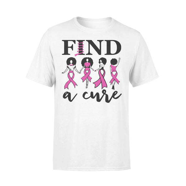 Breast Cancer Awareness Find A Cure T-shirt L By AllezyShirt
