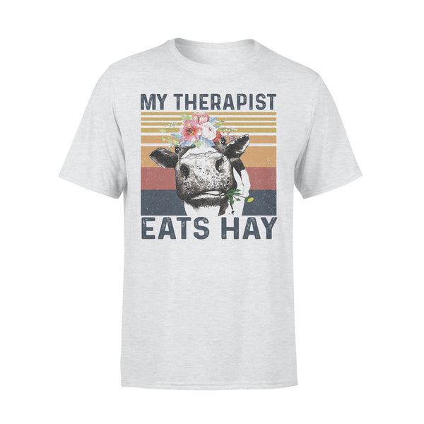 Cow My Therapist Eats Hay Flowers Vintage Retro T-shirt XL By AllezyShirt