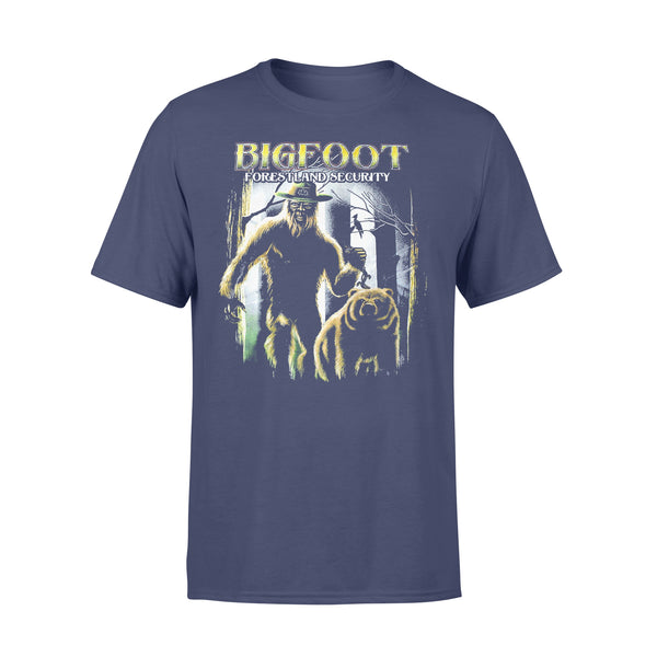 Bigfoot Forestland Security Graphic T-shirt XL By AllezyShirt