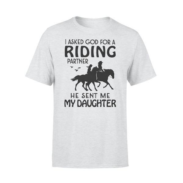 I Asked God For A Riding Partner He Sent Me My Daughter Shirt XL By AllezyShirt