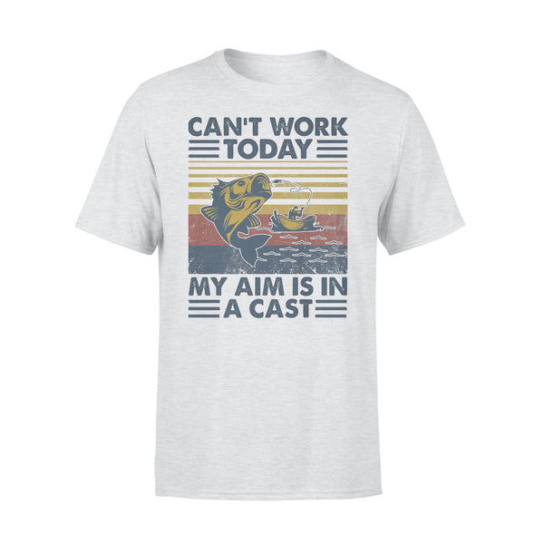 Fishing Can't Work Today My Aim Is In A Cast Vintage T-shirt XL By AllezyShirt