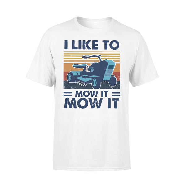 I Love To Mow It Mow It Mowing Machine Mower Vintage T-shirt L By AllezyShirt