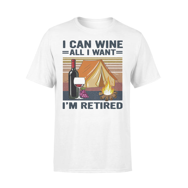 Camping I Can Wine All I Want I'm Retired Vintage Retro  T-shirt L By AllezyShirt