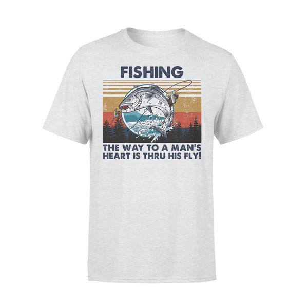 Fishing The Way To A Man's Heart Is Thru His Fly Vintage Retro T-shirt XL By AllezyShirt