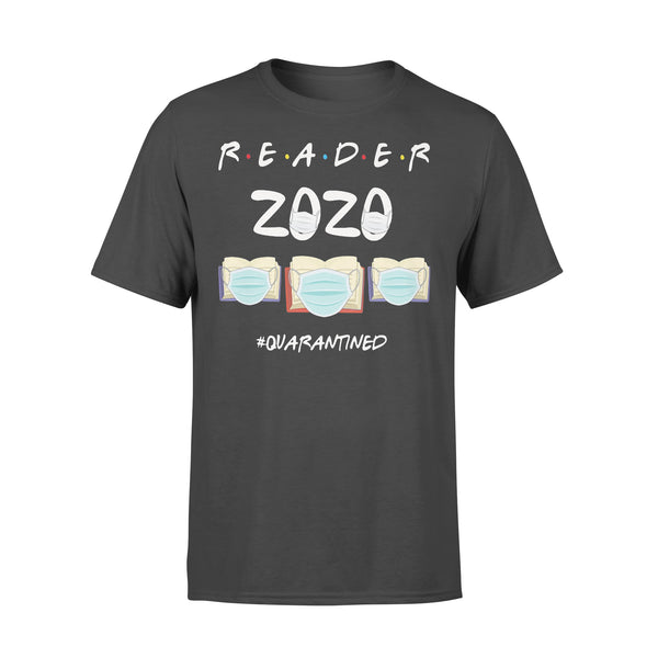 Reader 2020 Quarantined Covid-19 Books T-shirt L By AllezyShirt