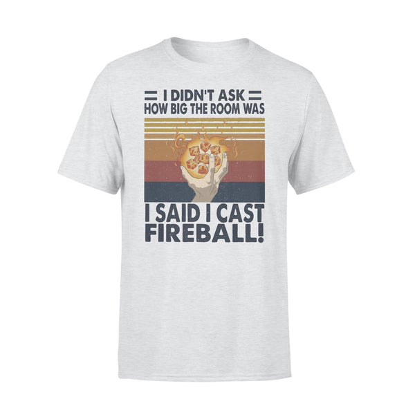 I Didn't Ask How Big The Room Was I Said I Cast Fireball Vintage T-shirt XL By AllezyShirt