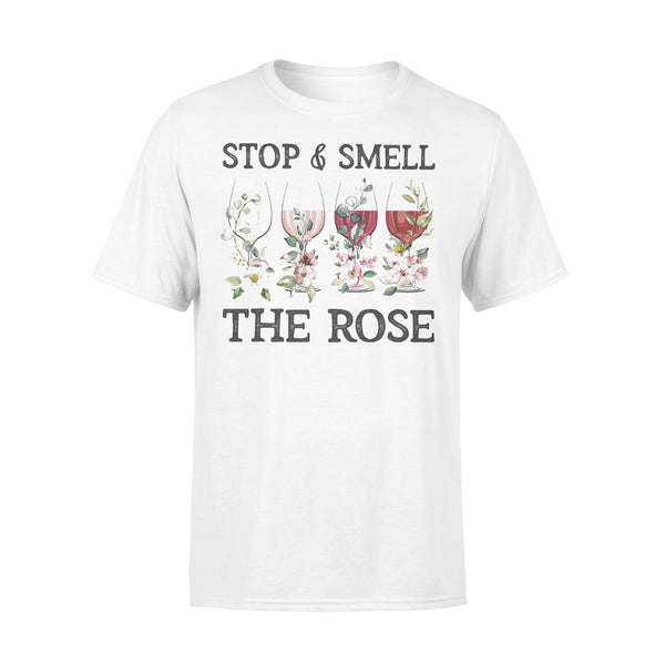 Wine Stop And Smell The Rose T-shirt L By AllezyShirt
