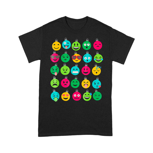 Christmas Tree Ornament Emoji T-shirt S By AllezyShirt