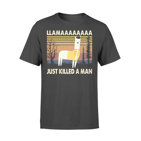 Llama Just Killed A Manssss T-shirt L By AllezyShirt