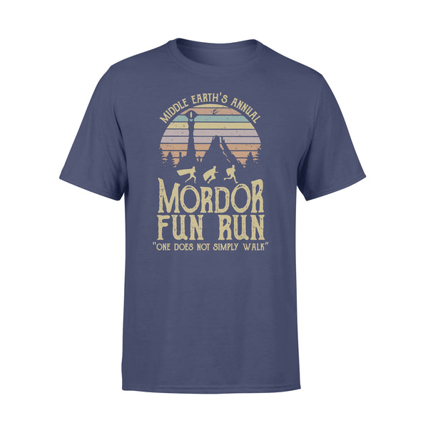 Middle Earth's Annual Mordor Fun Run One Does Not Simply Walk Vintage T-shirt XL By AllezyShirt
