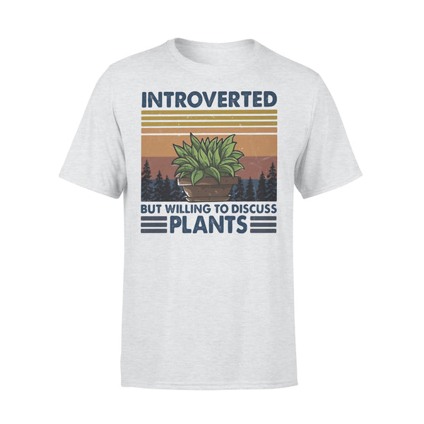 Garden Introverted But Willing To Discuss Plants Vintage Retro T-shirt XL By AllezyShirt
