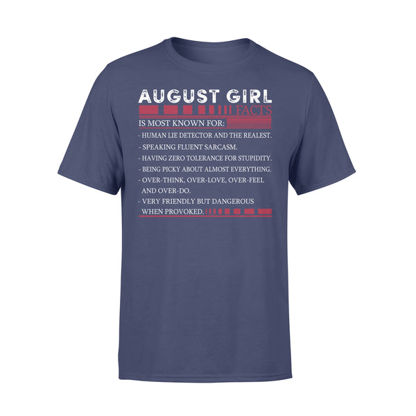 Best August Girl Facts Shirt XL By AllezyShirt