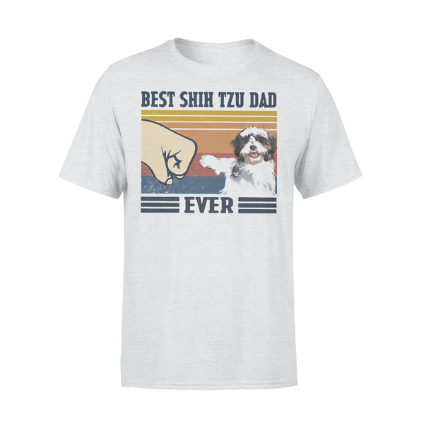 Best Shih Tzu Dad Ever Vintage T-shirt XL By AllezyShirt