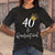 40Th Birthday Quarantine T-shirt