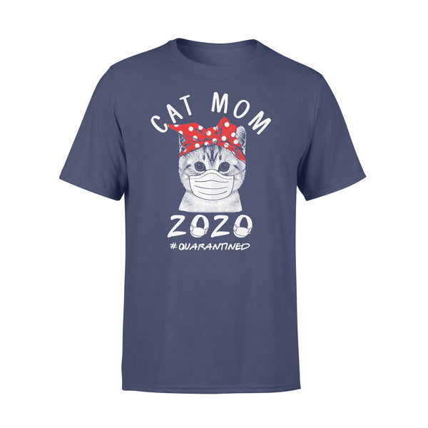 Cat Mom 2020 Quarantined Covid-19 T-Shirt XL By AllezyShirt