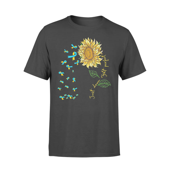 Just Down Right Perfect Spina Bifida Awareness Sunflower T-shirt L By AllezyShirt