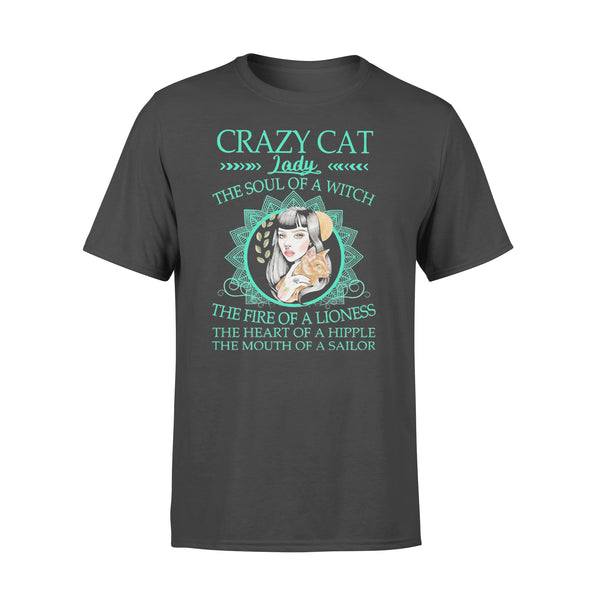 Crazy Cat Lady The Soul Of A Witch The Fire Of A Lioness T-shirt L By AllezyShirt