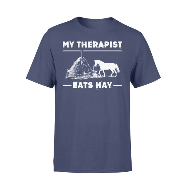 Horse My Therapist Eats Hay 2020 Black Shirt XL By AllezyShirt