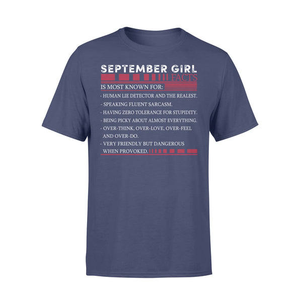 Best September Girl Facts Shirt XL By AllezyShirt