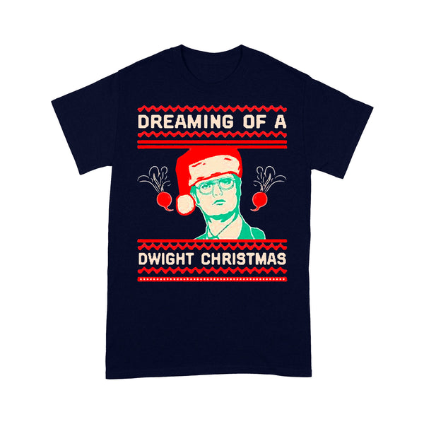 Dreaming Of A Dwight Ugly Christmas T-shirt M By AllezyShirt