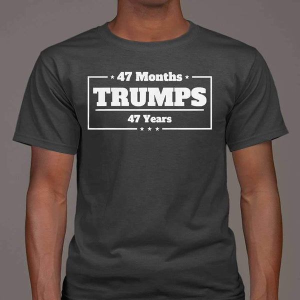 47 Months Trumps 47 Years 2020 Debates T-shirt M By AllezyShirt