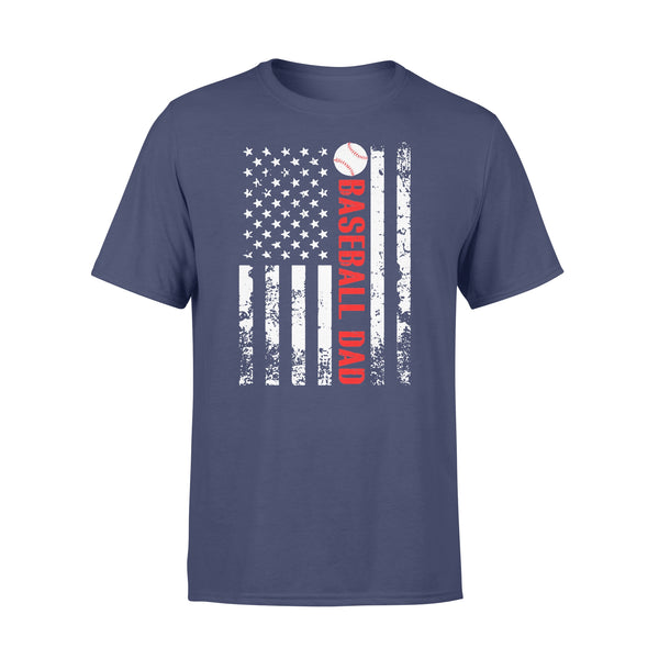Baseball Dad Father's Day American Flag Independence Day T-shirt XL By AllezyShirt