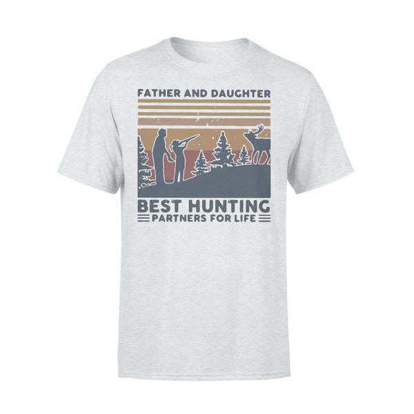 Father And Daughter Best Hunting Partnees For Life Vintage T-shirt XL By AllezyShirt