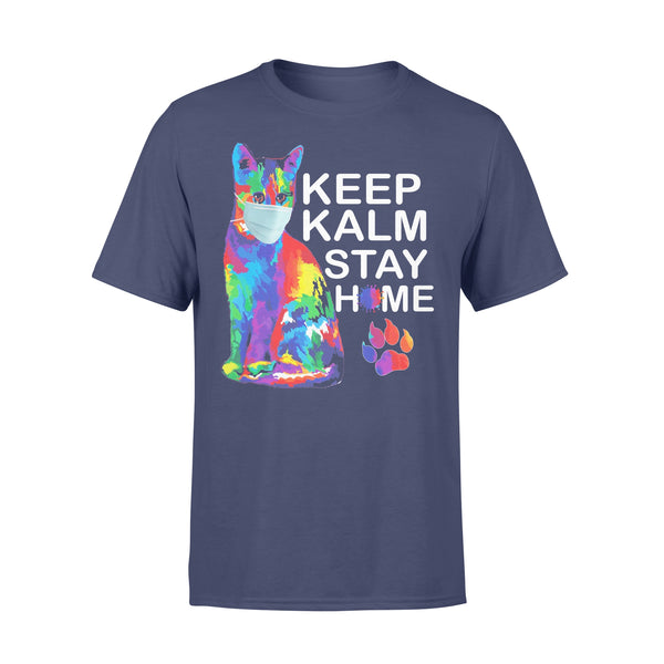 Cat Keep Kalm Stay Home T-Shirt XL By AllezyShirt