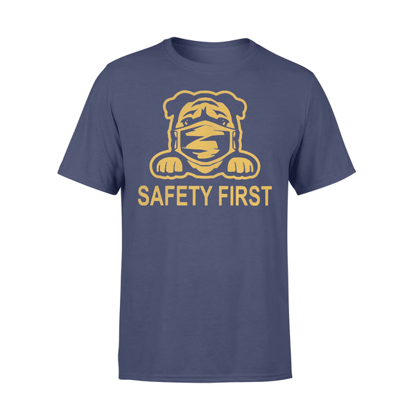 Pug Wear Mask Safety First T-shirt XL By AllezyShirt