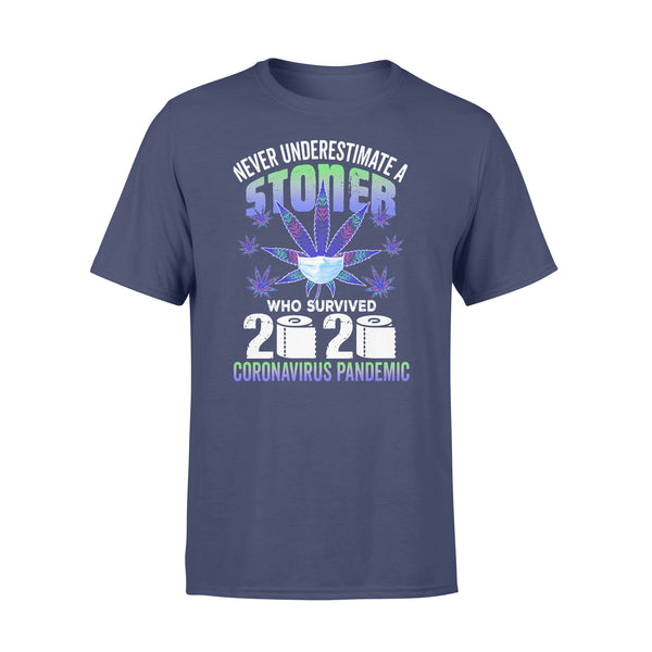 Never Underestimate Stoner Who Survive Coronavirus Pandemic T-shirt XL By AllezyShirt