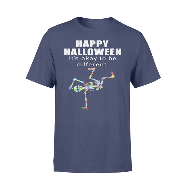 Happy Halloween It's Okay To Be Different Hip Hop Skeleton Autism T-shirt XL By AllezyShirt
