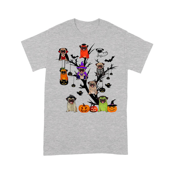 Pug Dog Halloween Tree T-shirt M By AllezyShirt