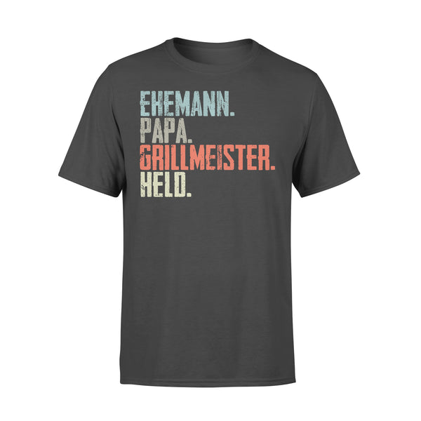 Ehemann Papa Grillmeister Hello T-shirt L By AllezyShirt