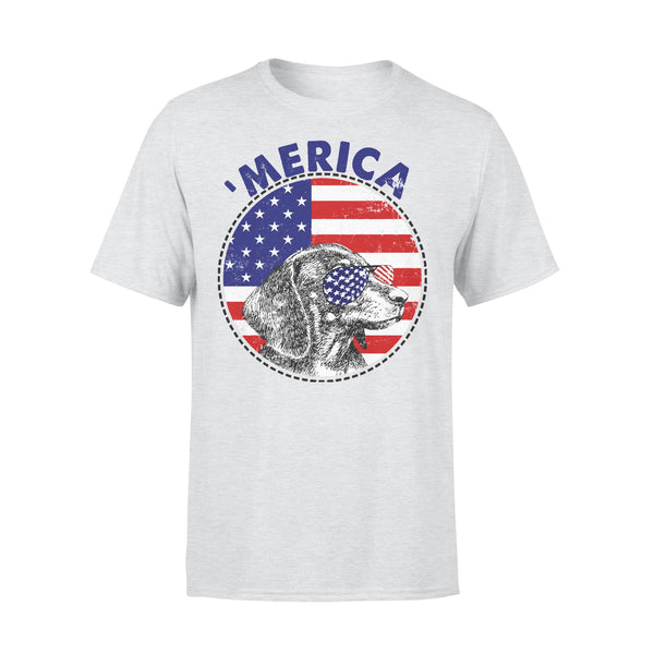 Dachshund 'Merica Flag Sunglasses Vintage 4th of July USA T-shirt XL By AllezyShirt