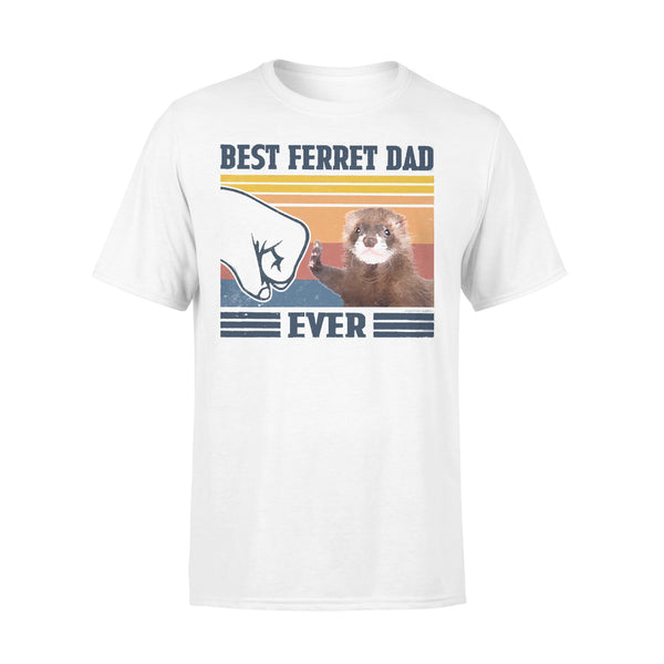 Father's Day Best Ferret Dad Ever Fathers Day Gift T-shirt L By AllezyShirt