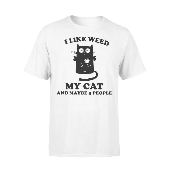 I Like Weed My Cat And Maybe 3 People T-shirt L By AllezyShirt